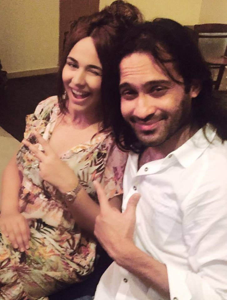 Ayyan Ali With  Waqar Zaka After Release From Jail