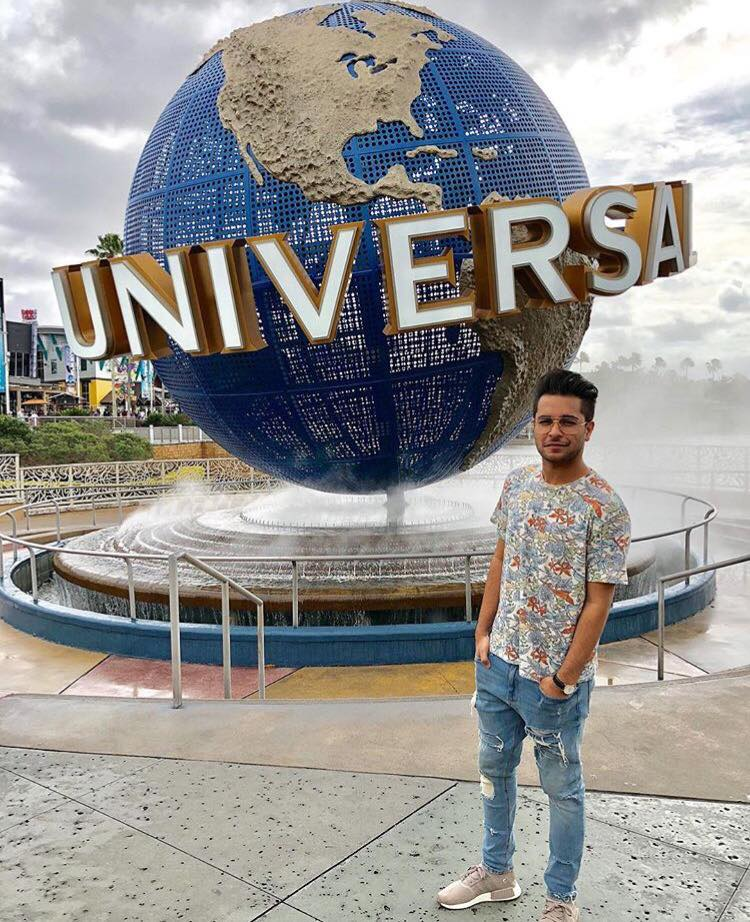 Azim Azhar At Univeral Studios While On Vacation In USA