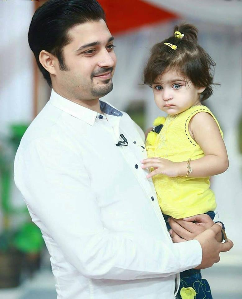 Babar Khan With His Daughter