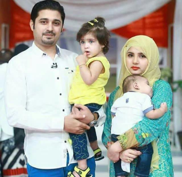 Babar Khan With His Wife & Kids