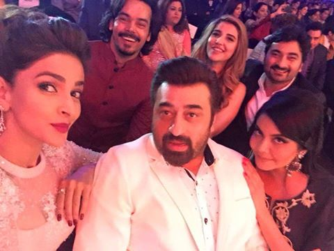 Beautiful star studded selfie by Saba Qamar