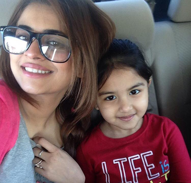 Benita David With Sunita Marshall Daughter Zaynah