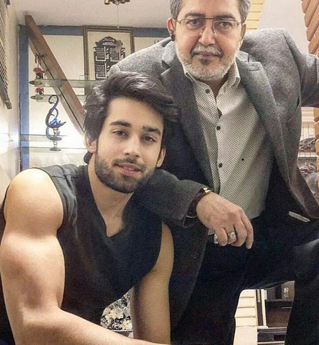 Bilal Khan With His Father