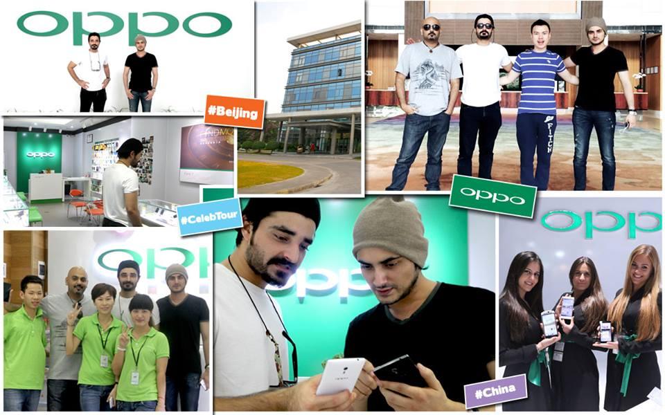 Bilal Lashari And Hamza Ali Abbasi Visited OPPO