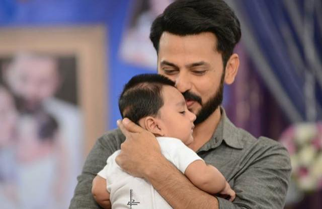 Bilal Qureshi With His Baby Boy