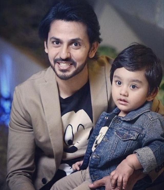 Bilal Qureshi With His Son Sohaan