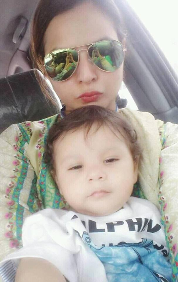 Binish Chohan With Her Son