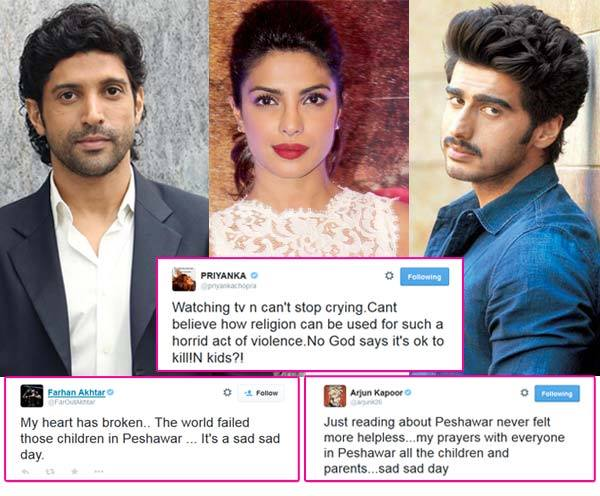 Bollywood Celebrities Condemns Peshawar School Attack