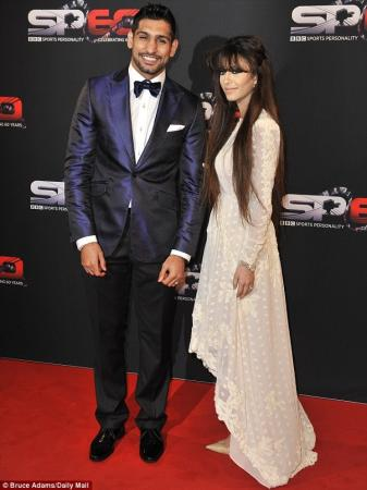 Boxer Amir Khan with wife Faryal at BBC Sports Awards