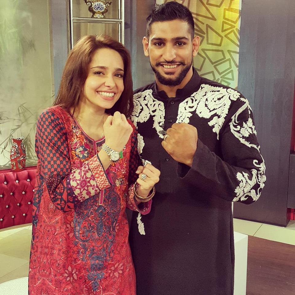 Boxer Amir With Juggun Kazim