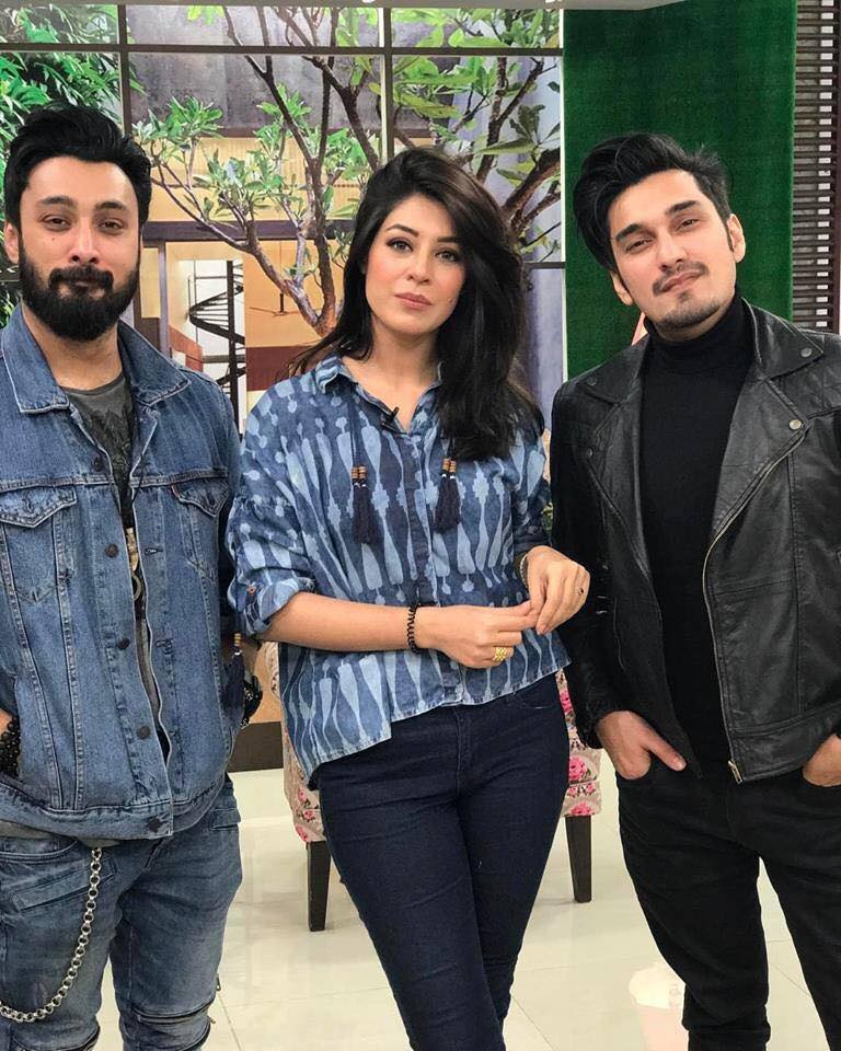 Brothers Umair Jaswal & Uzair Jaswal With Sundas Khan