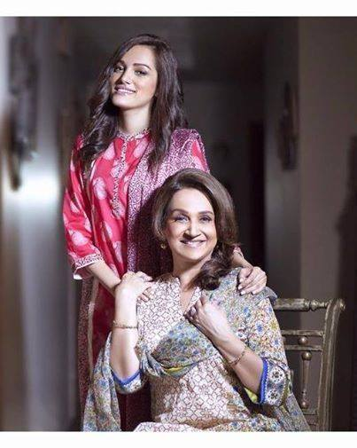 Bushra Ansari With Daughter Meera Ansari