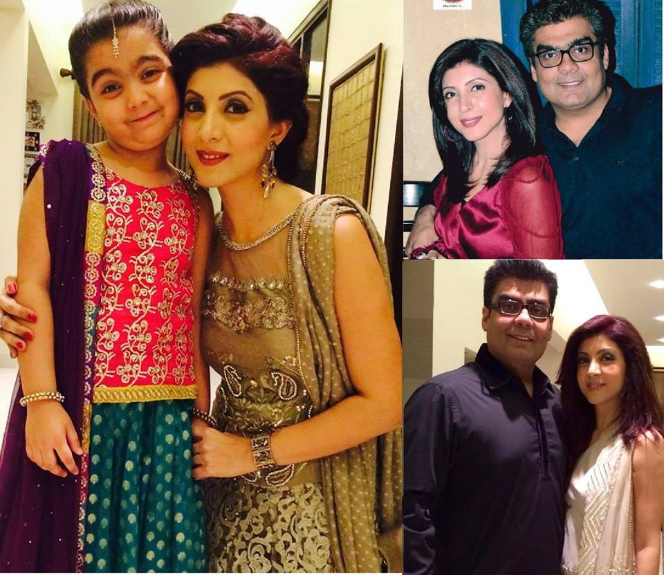 CEO ARY Network Salman Iqbal With Wife Model Sonya And Daughter Cybil