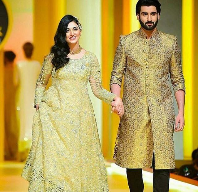 Celebrity Couple Sarah Khan & Agha Ali