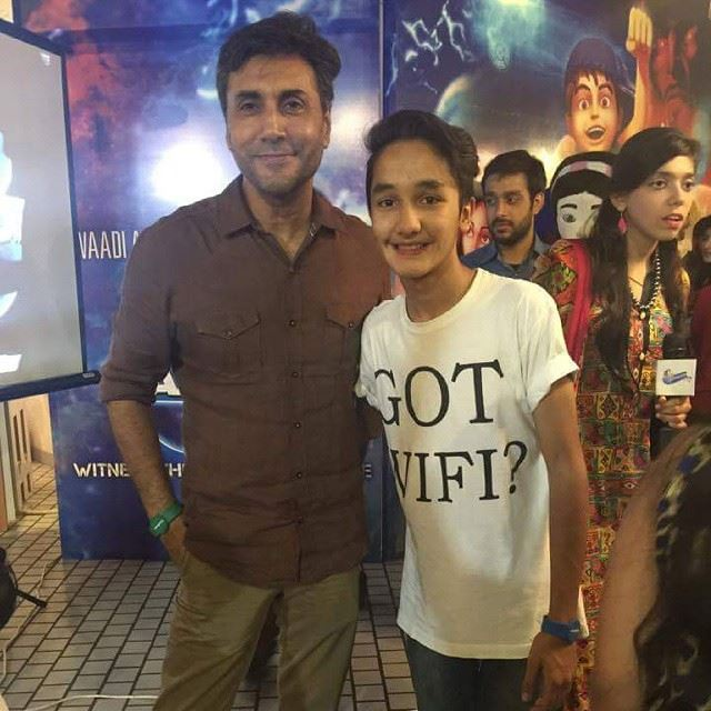 Child Star Zuhab Khan With Adnan Siddiqui