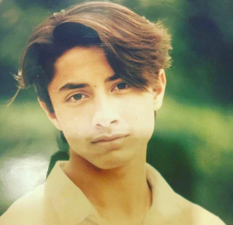 Childhood Photo Of Ali Zafar