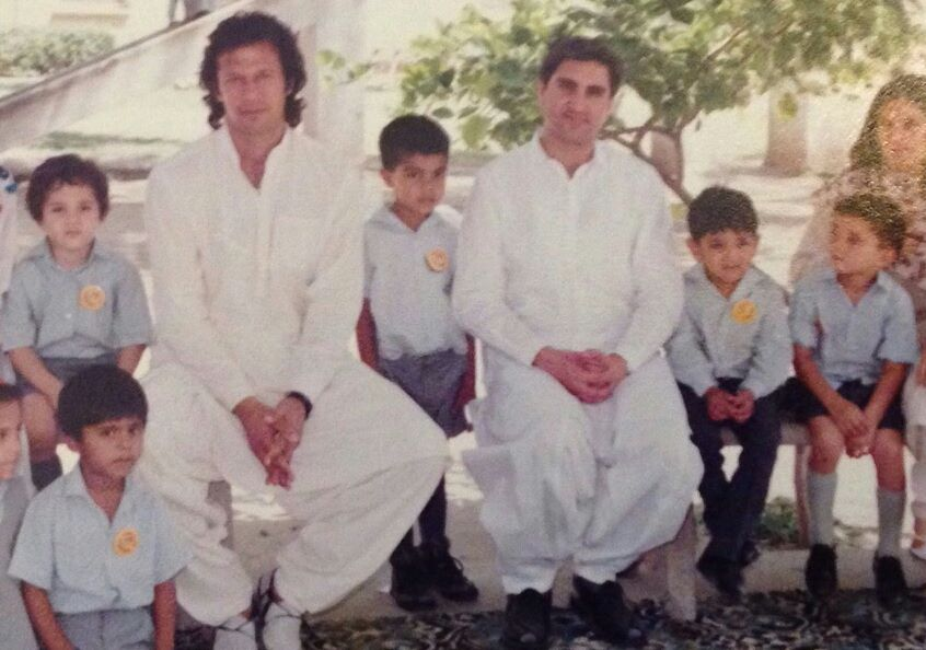 Childhood Pic OF Hamza Ali Abbasi With Imran Khan