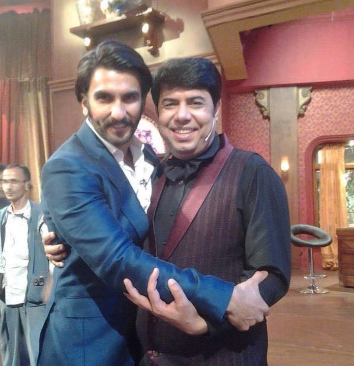 Comedian Naseem Vicky With Ranveer Singh