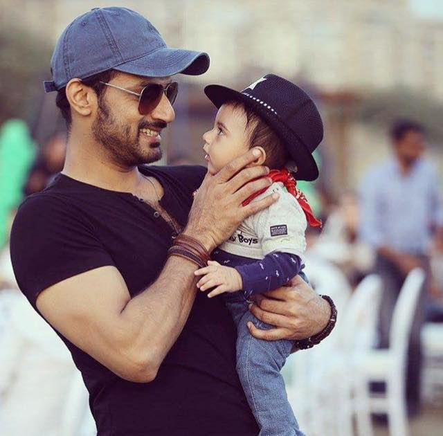 Cute Click Of Zahid Ahmed With His Son