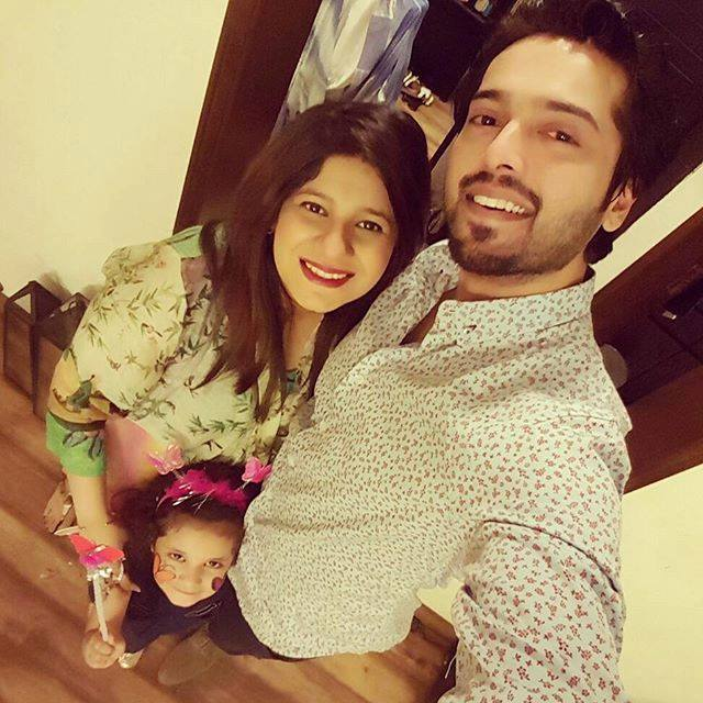 Cute Family picture of Fahad Mustafa