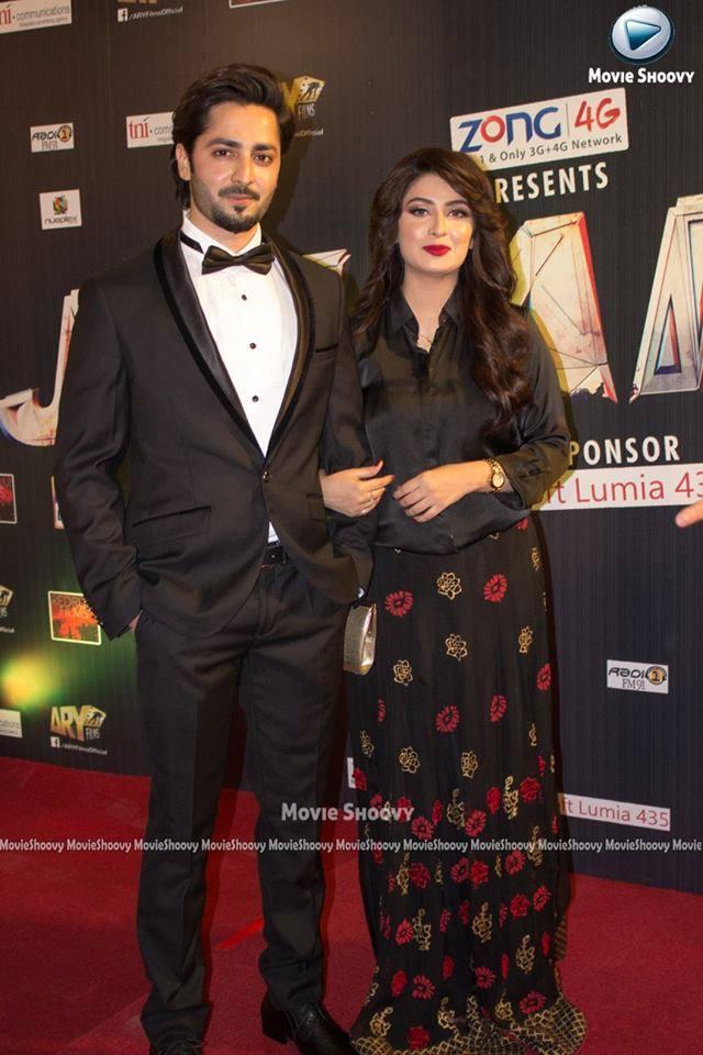 Danish Taimoor And Aiza Khan At Premiere Of Film Jalaibee