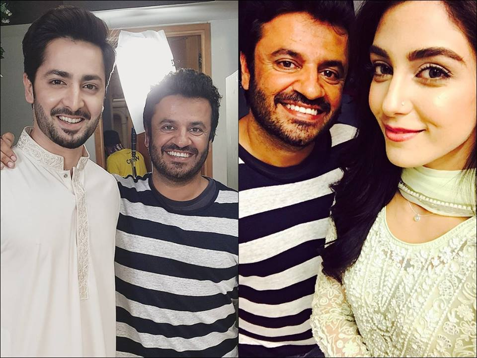 Danish Taimoor and Maya Ali With Bollywood Director Vikas Bhal