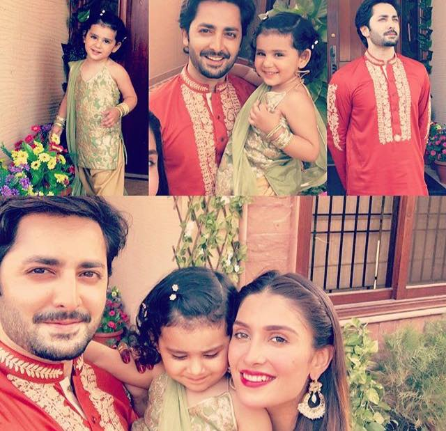 Danish & Ayeza With Daughter On 2nd Day Of Eid