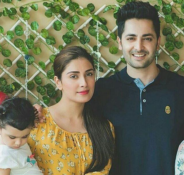 Danish & Ayeza With Their Daughter