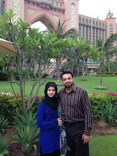 Dr. Aamir Liaquat Hussain With His Wife Bushra At Dubai