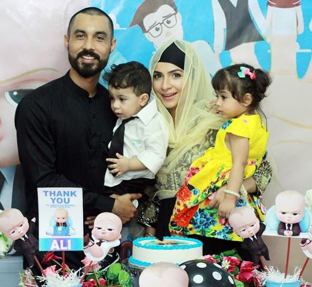 Dua Malick & Sohail Rizvi Celebrating Their Son's First Birthday