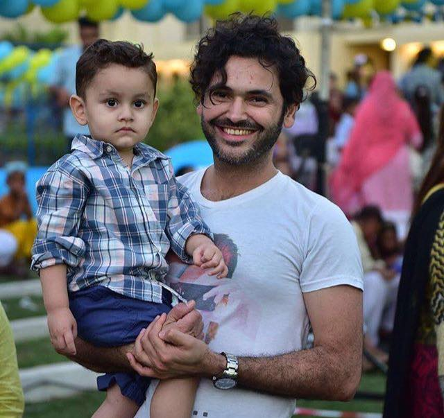 Fahad Mirza Clicked With His Son