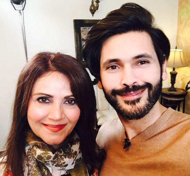 Fahad Mirza With His Mother