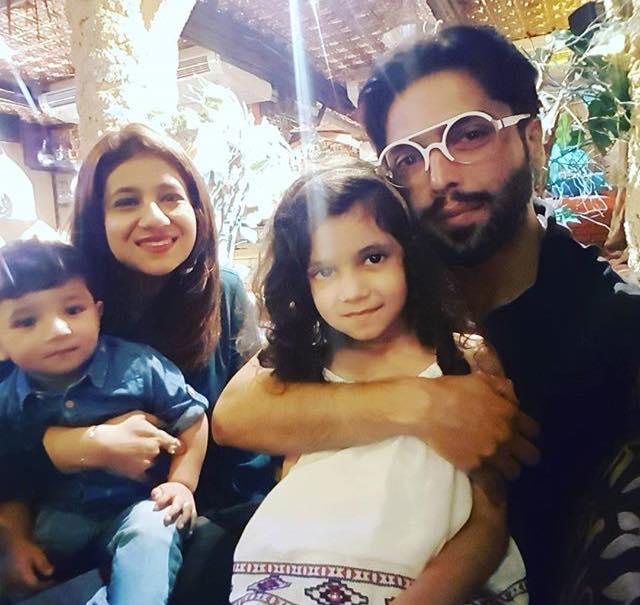 Fahad Mustafa With Family