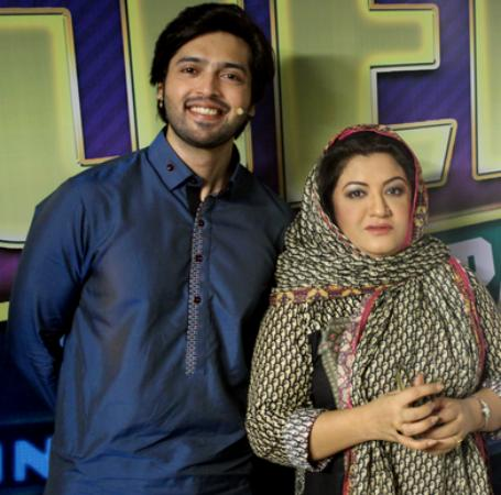 Fahad Mustafa With Hina Dilpazir At Jeeto Pakistan Set