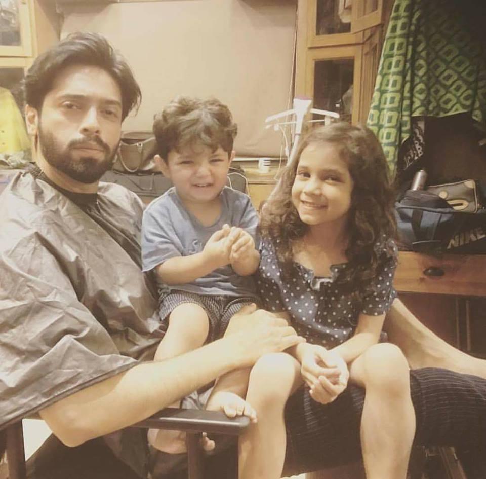 Fahad Mustafa With His Kids