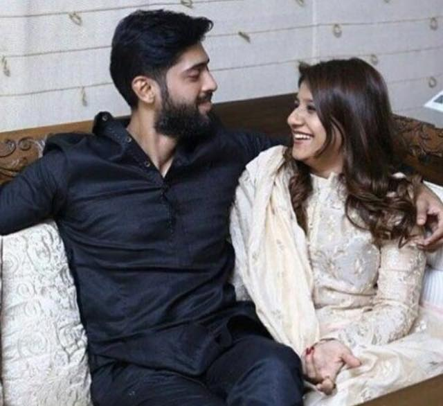 Fahad Mustafa With His Wife