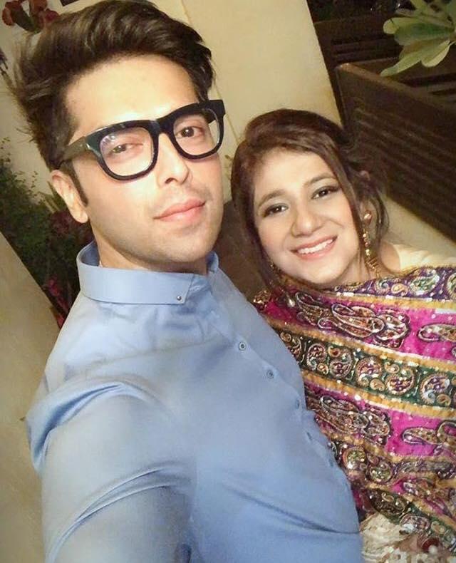 Fahad Mustafa With His Wife