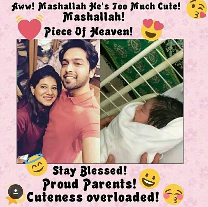 Fahad Mustafa blessed with a baby boy ! Congratulations and Best wishes
