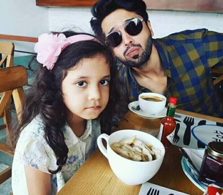 Fahad Mustufa With His Daughter