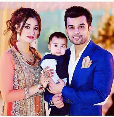Fahad Sheikh With His Wife Mehreen Fahad & Son