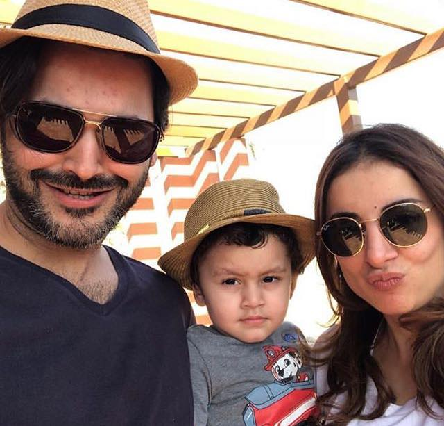 Fahad & Sarwat With Their Son Rohann