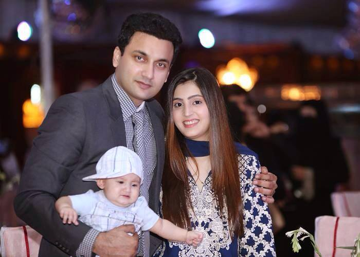 Faiq Khan With His Wife And Cute Son