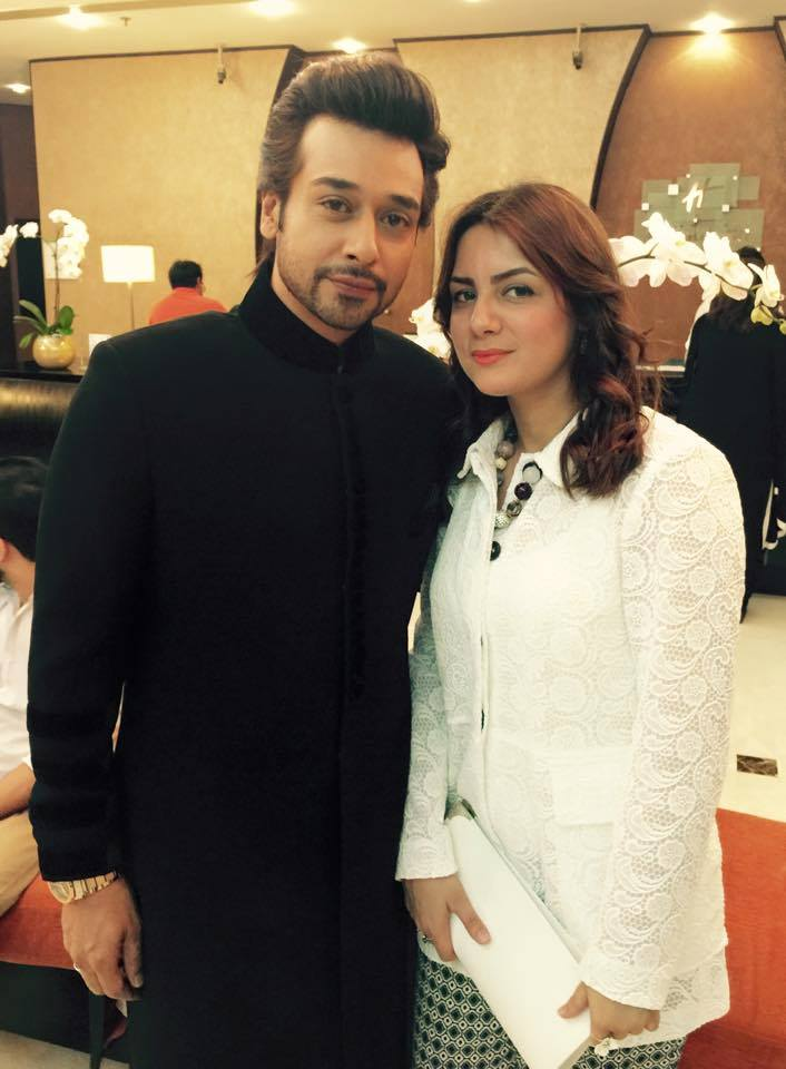 Faisal Qureshi And His Wife At 3rd Hum Awards