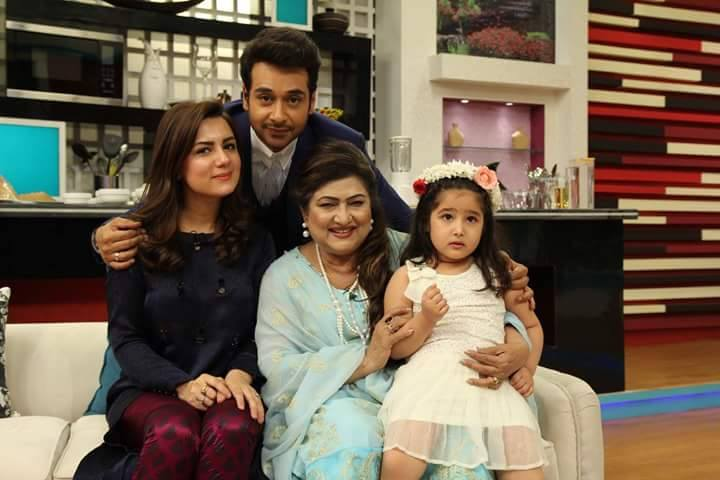 Faisal Qureshi with his ‪‎Mother‬ ‪Wife‬ & ‎Daughter