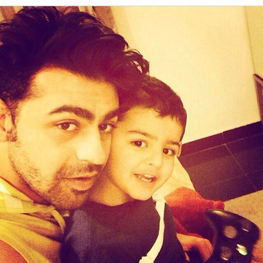 Farhan Saeed With His Nephew