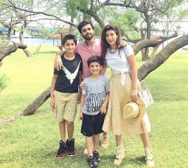 Farhan & Urwa Enjoying Vacations With Their Nephews