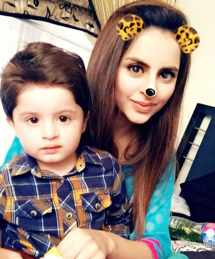 Fatima Effendi With Her Cute Little Boy