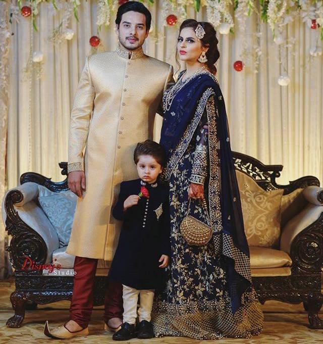 Fatima Effendi With Husband Kanwar Arsalan & Son
