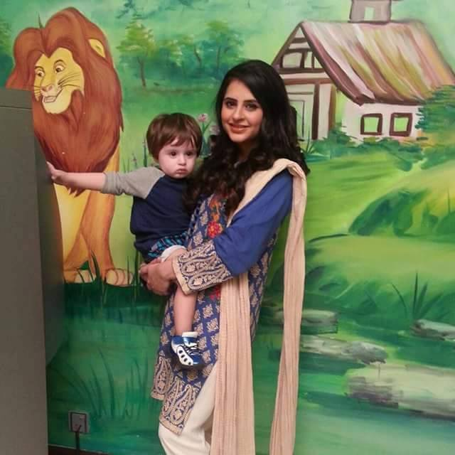 Fatima Effendi With her Cute Son Almir