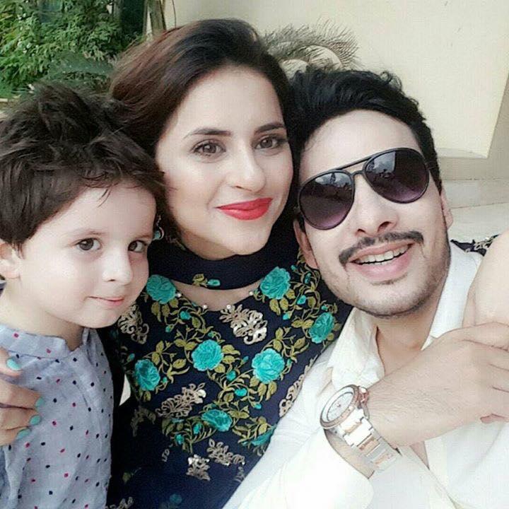 fatima effendi amp kanwar with their son on eid arts